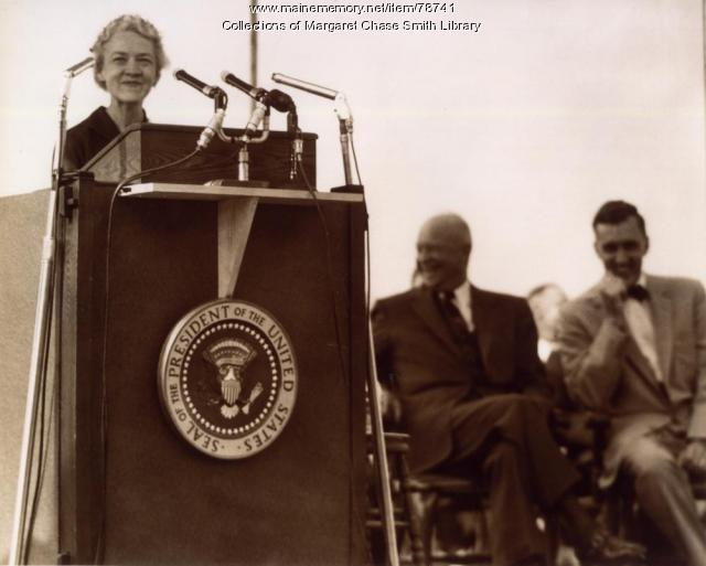 Margaret Chase Smith, Skowhegan, 1955