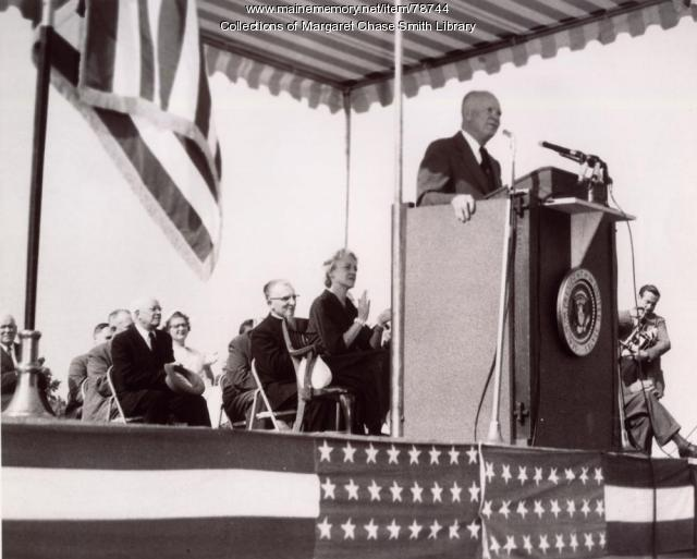 President Dwight Eisenhower, Skowhegan, 1955