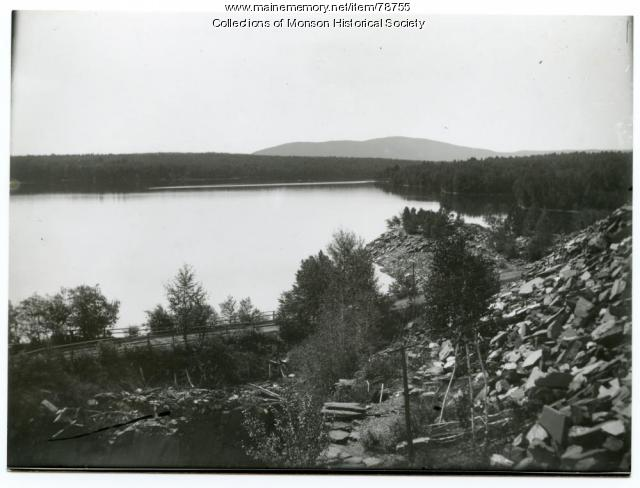 Abandoned Hebron Slate Quarry, Monson, ca. 1935