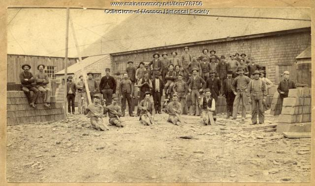 Slate Quarry Workers, Monson, ca. 1900