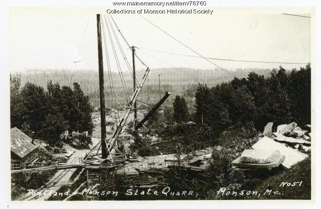 Slate Quarry Hoist, Monson, ca. 1900