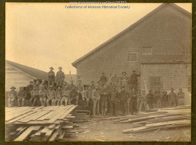Monson Maine Slate Company miners, Monson, ca. 1885