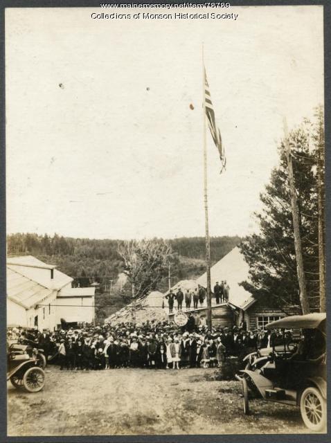 Portland-Monson Slate Company celebration, Monson, ca. 1916