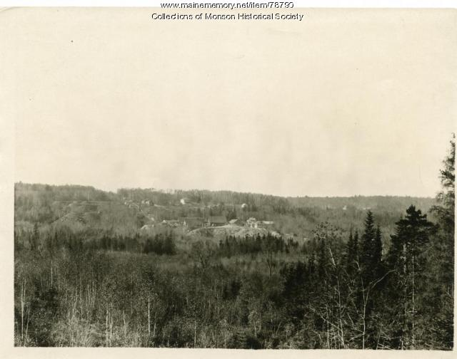 Panoramic view of Portland-Monson Slate Co., Monson, ca. 1900
