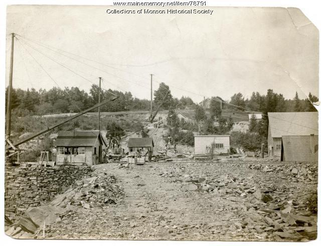 Quarry buildings, Monson, ca. 1890