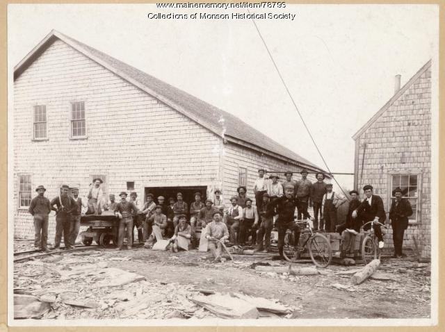 Portland-Monson Slate Company, Monson, ca. 1915