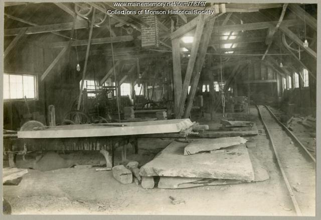 Slate Mill operation, Monson, ca. 1920