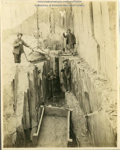 Quarry Employees, Monson, ca. 1890
