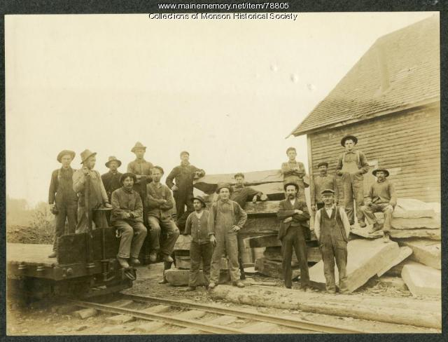 Slate Quarry Employees, Monson, ca. 1890