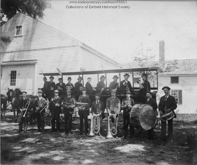 The Renowned Dixfield Band, Dixfield, ca. 1890.