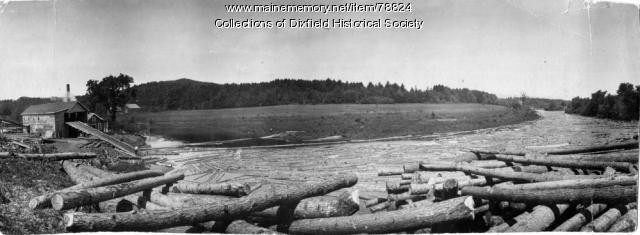 Towle and Fairbanks Logging and Sawmill, Dixfield, ca. 1900
