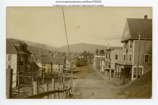 View of Main Street Ridlonville from Day Hill, 1908