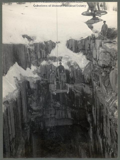 Slate Quarry Employees, Monson, ca. 1910