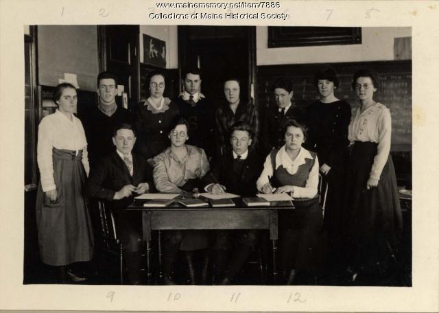Stonington High School editorial staff, ca. 1919