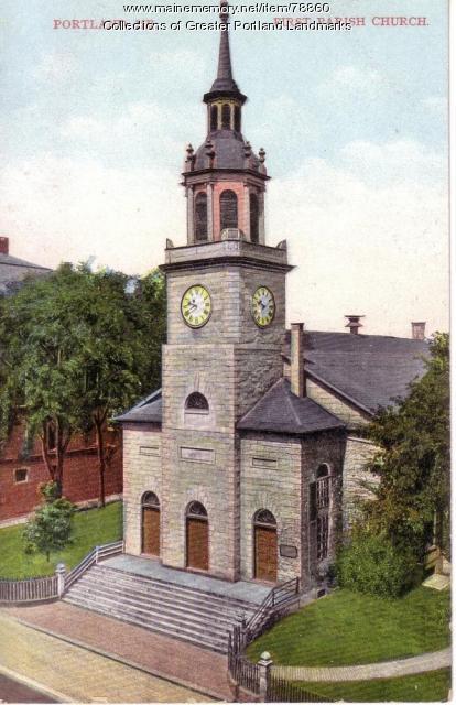 First Parish Church, Portland, ca. 1950