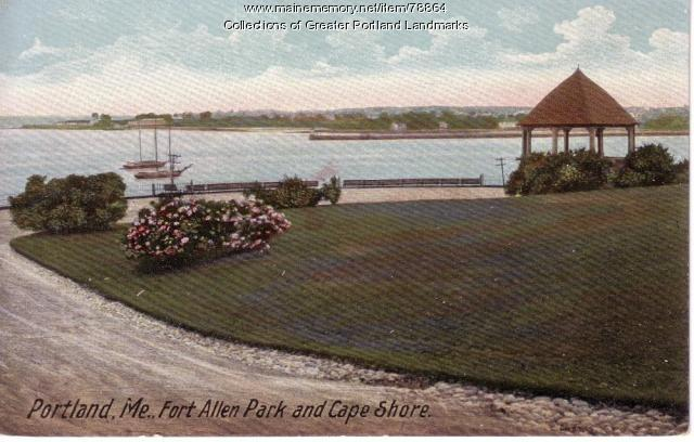 Casco Bay from Fort Allen Park, Portland, ca. 1945