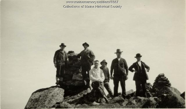 Hikers, Katahdin summit, 1923