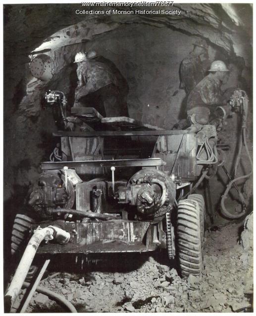 Slate Quarry Operation, Barnard, 1951