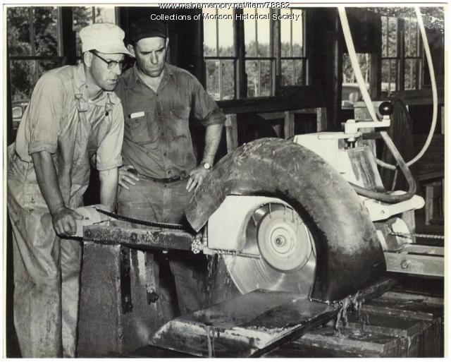 Cutting slate, Barnard, 1951