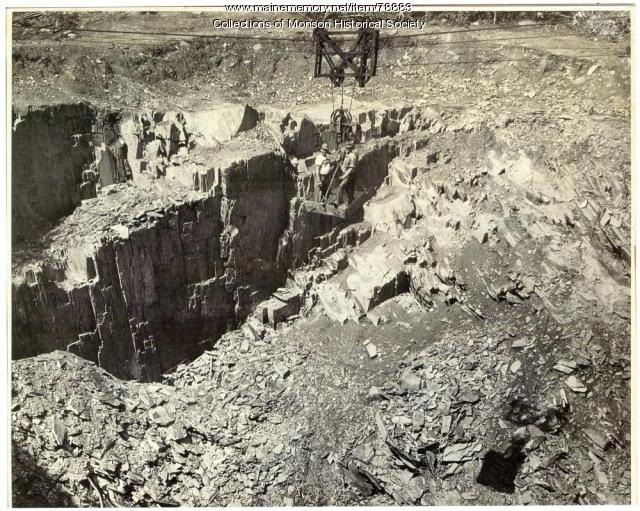 Abandoned Quarry Reopens, Barnard, 1951 - Maine Memory Network