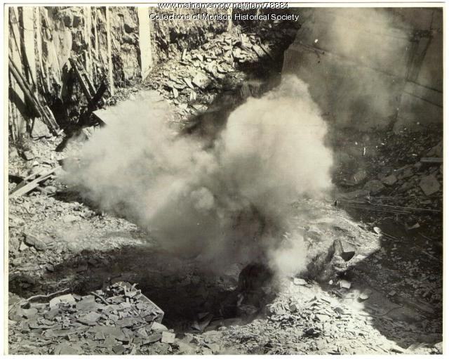 Blasting in Quarry, Barnard,  1951