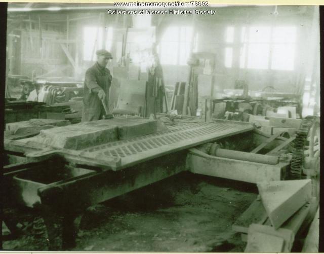 Monson-Maine Company employee, ca. 1910