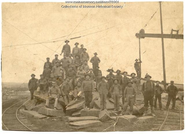 Quarry Employees, Monson, ca. 1900