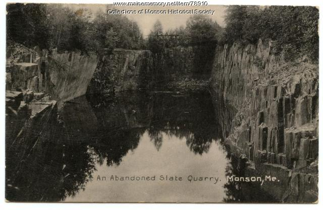 Abandoned Quarry, Monson, ca. 1900