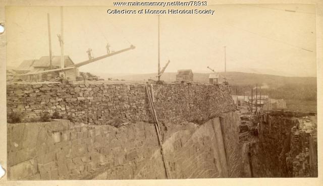 Monson-Maine Slate Company, Monson, ca. 1900