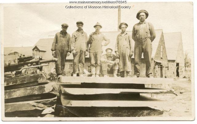 Slate Quarry employees, Monson, ca. 1930