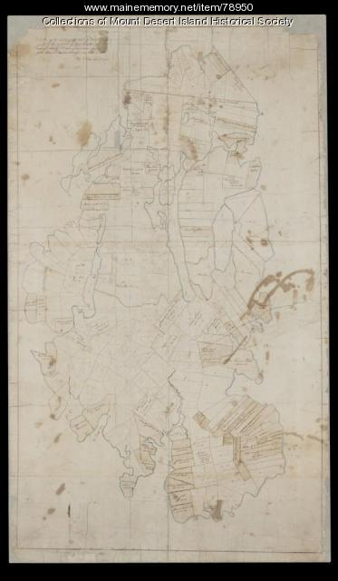 Salem Towne Map, Mount Desert Island, ca. 1808