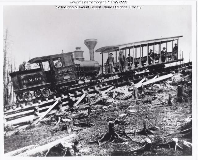 Green Mountain Railway Car, Mount Desert Island, ca. 1883