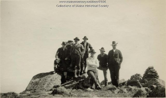 All hands on summit, Mt. Katahdin, ca. 1923