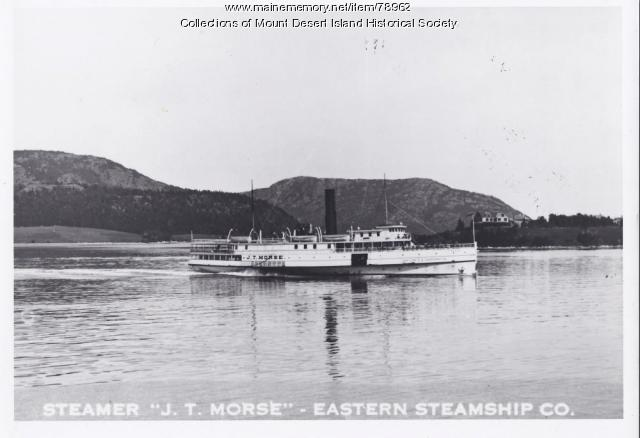 "Steamer ""J.T. Morse"" leaving Northeast Harbor, ca. 1900"