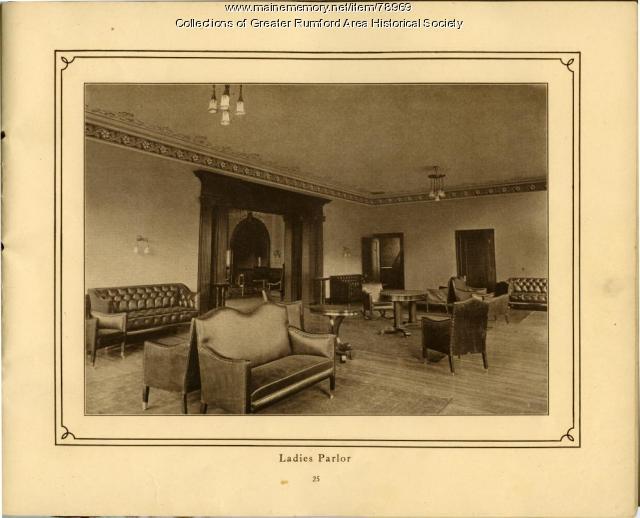 Ladies Parlour, Mechanics Institute, Rumford, 1911