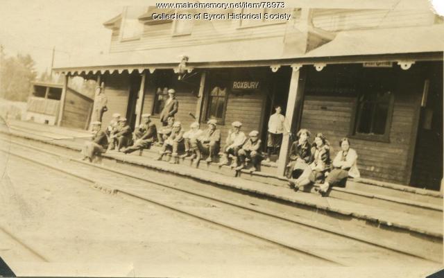 Roxbury Train Station and Post Office, ca. 1900