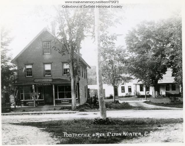 East Dixfield Post Office and General Store, Wilton, ca. 1914