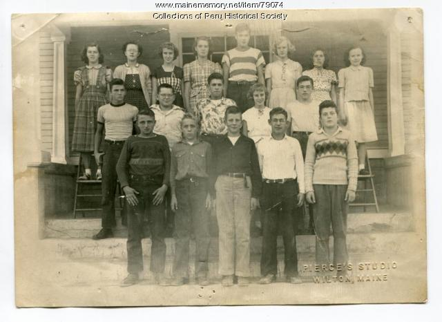West Peru Grammar School eighth grade class, 1950