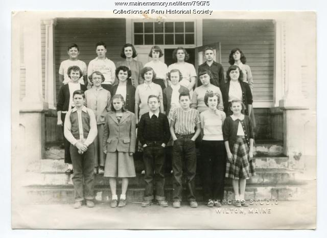 West Peru Grammar School eighth grade, Peru, 1951