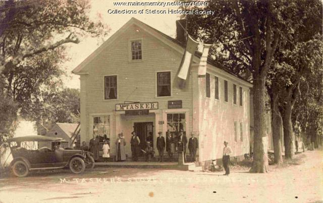 Maurice Tasker Store, Stetson, ca. 1919