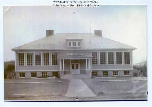 West Peru Grammar School, ca. 1940
