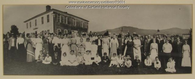 The Holman Family reunion and homestead, Dixfield, ca. 1911