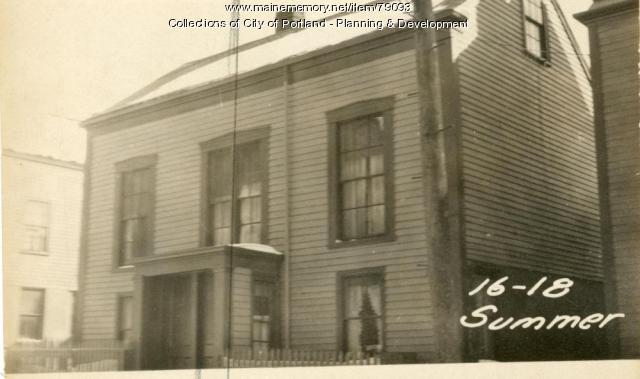 18 Summer Street, Portland, 1924