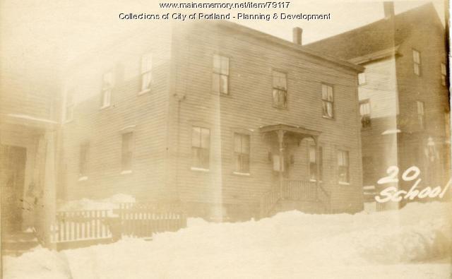 18-20 School Street, Portland, 1924