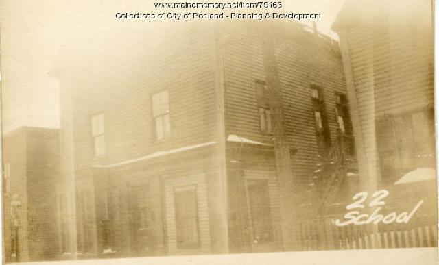 22-24 School Street, Portland, 1924