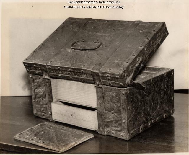 Sebastien Rasles strongbox, ca. 1721