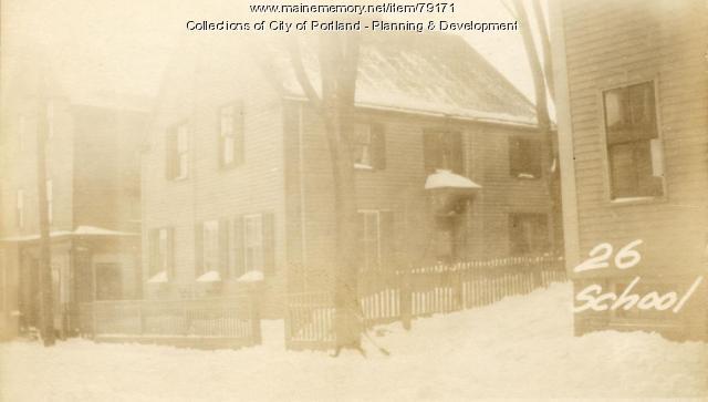 26 School Street, Portland, 1924