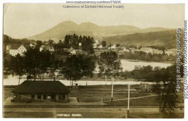Dixfield Village as seen from Peru Side, Dixfield, ca.1900