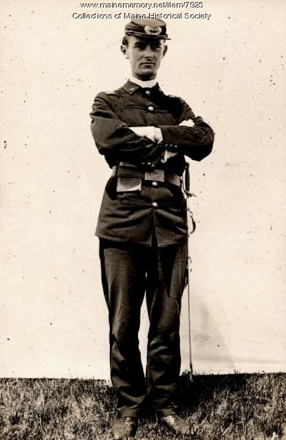 Capt. Arthur Norton, Portland High School cadets, 1896