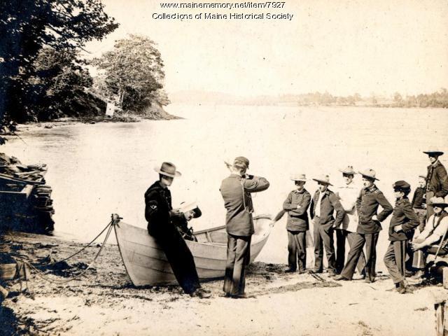 Rifle range at Cadet Camp, Harpswell, 1896